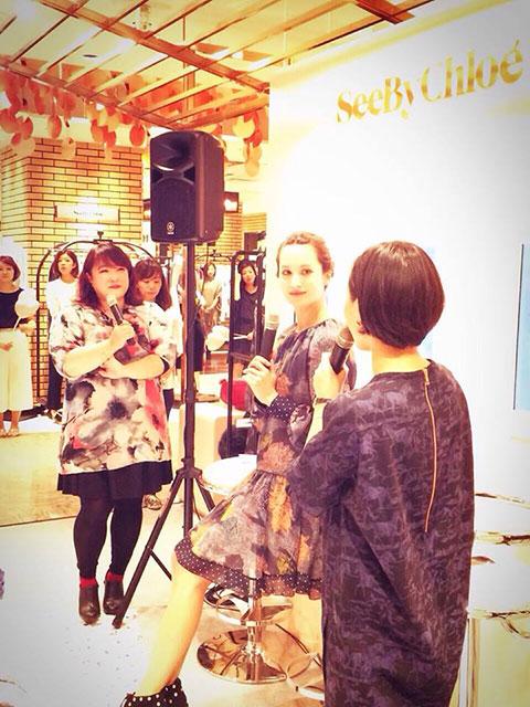 山星人の富永さん、キャンドル星人の黒田エイミちゃんと太陽星人の私の3人トークショー